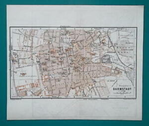 Map Of Germany Mannheim.1936 Map Germany German Reich Mannheim Darmstadt Town City Plans