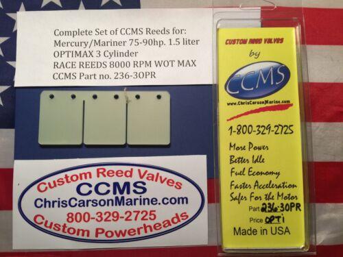 CCMS Mercury//Mariner Race Reed Valve 75-125hp.1.5 liter 3cyl OPTIMAX PN.236-3OPR