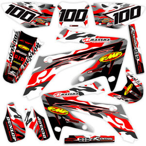 2013-2014-2015-2016-2017-HONDA-CRF-125-F-GRAPHICS-KIT-JET-FIGHTER-RED-GREY
