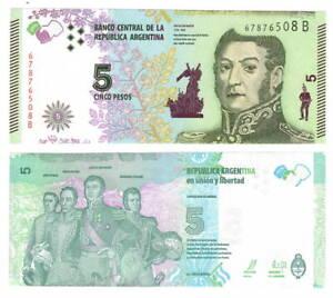 P.359 UNC 2017 SERIE C ARGENTINA BANKNOTE 5 Pesos