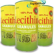 3x Optima 100% Pure Lecithin Granules 500g GMO Gluten Free