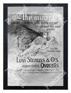 Historic-Levi-Strauss-amp-Co-039-s-ca-1875-Advertising-Postcard