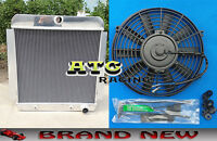 For 1955-1959 Chevy Pickup Truck 3 Row Aluminum Radiator 1956 1957 58 + Fan