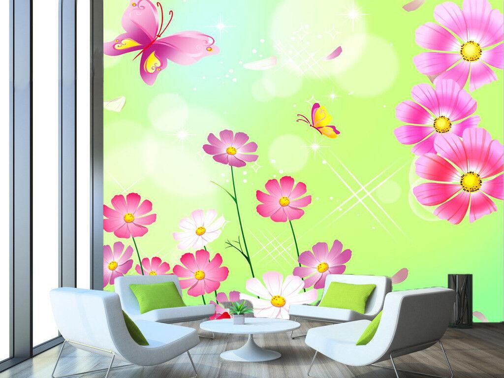 3D Sweet Pink Daisy 88 Wall Paper Murals Wall Print Wall Wallpaper Mural AU Kyra