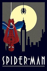 Marvel Deco - Spiderman Hanging POSTER 61x91cm NEW * Spider-Man cool artwork