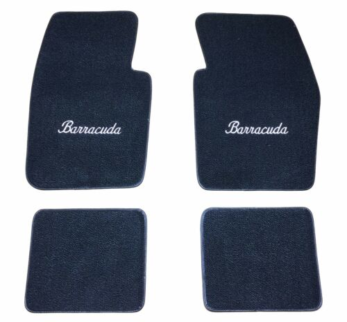 Floor Mats 80//20 Loop Cater 1964-74 Plymouth Barracuda Embroidered Mopar