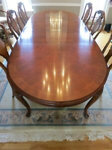 Details About 9 Piece Drexel Heritage Dining Room Table With 8 Chairs Occasional Use Only