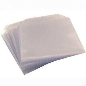 100 Pochettes de Protection pour CD avec rabat sans colle, épaisseur 80 My