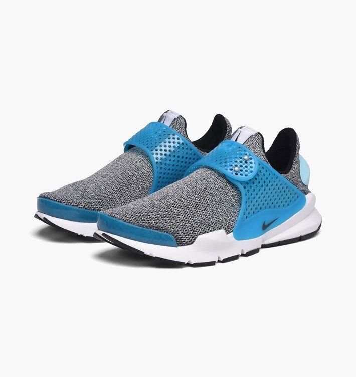 WMNS Nike Sock Dart SZ 10 Black bluee Lagoon White 862412-002