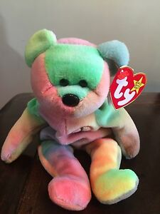 Rare Ty Beanie Baby Peace Bear Original Collectible with Tag Errors ... 3aaffad5402