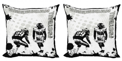 Ambesonne Black White Art Cushion Cover Set of 2 for Couch and Bed in 4 Sizes