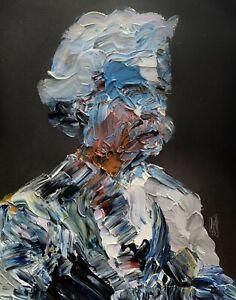 Abstract Portrait Mark Twain Writer Author Painting Knife Fine Wall Art Print