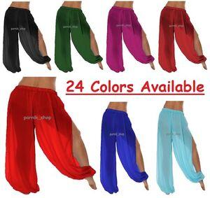 560eea3855af7 Image is loading Genie-Costume-Sheer-Chiffon-Harem-Yoga-Pants-with-