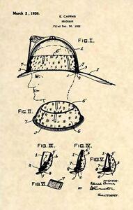 Original-Firefighter-Helmet-US-Patent-Art-Print-Official-1926-Cairns-FDNY-280