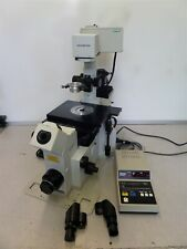 Olympus Ix70 Inverted Motorized Microscope With Nikon Ufx Iia As Is