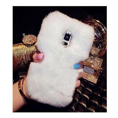 Phone Mobile Back Case Cover Ultra Luxury Warm Soft Comfy REX Fluffy Fur Skin