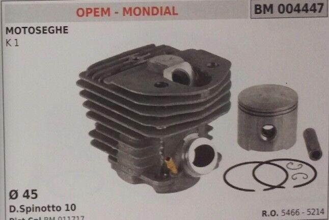5466 5214 Cilindro y Pistón Completo Motosierra Opem Mondial K1 Ø 45