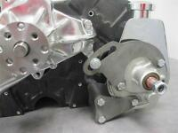 Small Block Chevy Chrome Power Steering Pump W/ Bracket For Long Water Pump Sbc