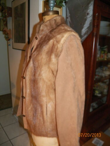 M Brown Jacket Fur To l Mink Unbuttons Vest wqUPnxqTYS