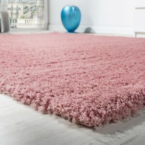 Image Is Loading Dusky Pink Rug Dusty High Pile Gy