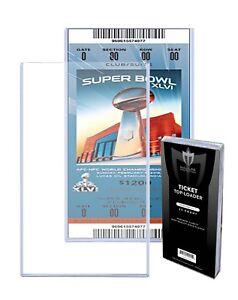Lot-100-Max-Pro-3-x-7-Ticket-Hard-Plastic-Topload-Holders-rigid-3x7-Toploaders