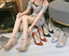 thumbnail 3 - Women Sequins Super High Heel Pointy Toe Party Stiletto Buckle Ankle Strap Shoes