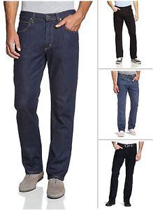 New-Men-039-s-Lee-Brooklyn-Straight-Leg-Stretch-Jeans-Regular-Black-Blue-Dark-Denim
