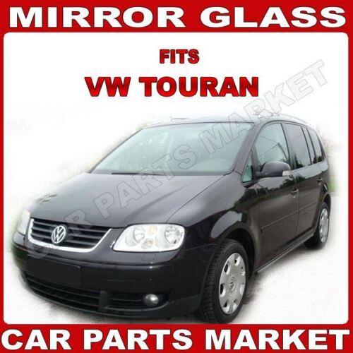 Para VW Touran 03-09 Derecho Lado Del Conductor Ala Espejo De Vidrio Con Placa Eléctrica