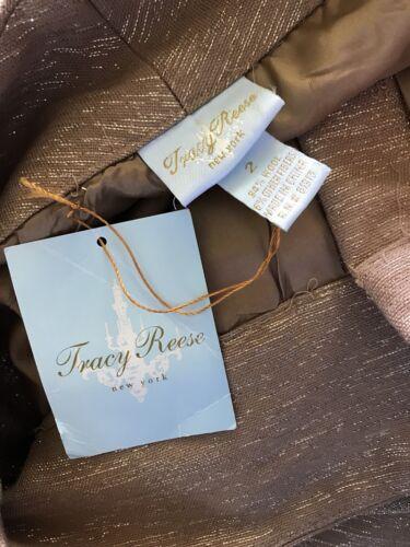 Caramel à doré rayures Tracy tissu jambe 2 Pantalon 2z1h94 en Racing métallisé Reese nqBxPtCwA