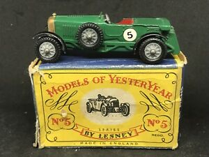 Matchbox-Lesney-Yesteryear-Y5-Series-1-Issue-7-1929-Le-Mans-Bentley-w-C-Box