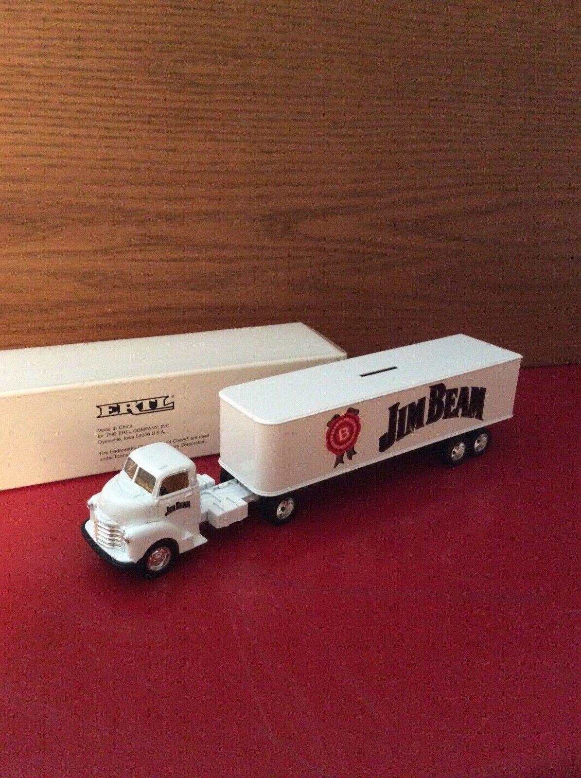 Ertl coe 1950 Chevy come tractor trailer Jim Beam   1 43 O Scale
