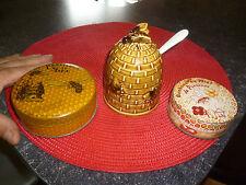 Ancien Pot à Miel et Abeille Faience Boite Bombons Provence Carpentras Pastille