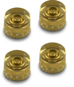 4x GOLD TALL SPEED KNOB VINTAGE 50's FOR GIBSON EPIPHONE STYLE - CTS OR BOURNS