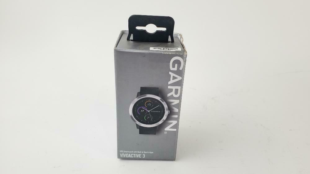 Garmin vívoactive 3, GPS Smartwatch Black with Silver Hardware OB black Featured garmin gps hardware silver smartwatch with