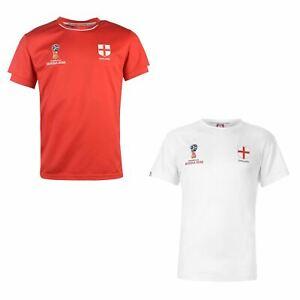 FIFA Coupe du monde 2018 Angleterre T-Shirt Homme Football Soccer tee shirt top