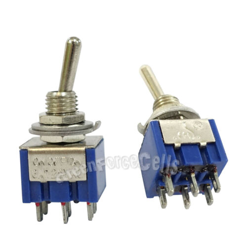 30 pcs 6 Pin DPDT ON-OFF-ON 3 Position 6A 250VAC Mini Toggle Switches MTS-203