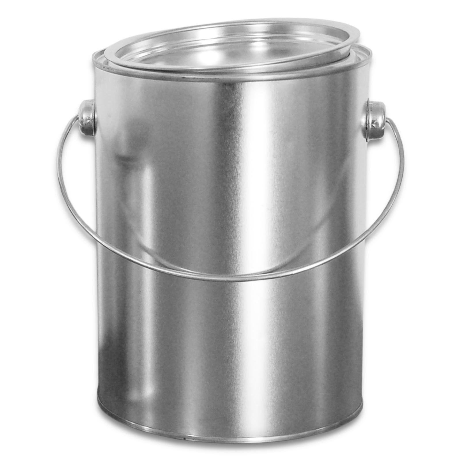 Boîte métallique 2,5 L avec anse et couvercle, rangement cuisine garage (23009)