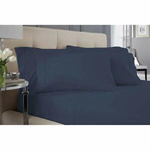 Life Comfort Fleece Soft King 6 Piece Plush Luxury Sheet Set Blue