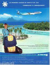 PUBLICITE ADVERTISING 116  2002  Air Tahiti Nui compagnie aérienne