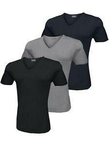 T-shirt Uomo Liabel Elasticizzante 3 Pezzi Scollo A V Manica Corta Colori Ass.