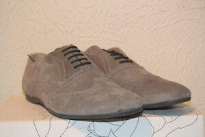 Nabuk scamosciata 45 Shoes Grigio London Base Pelle Suspect Taglia Novità wFTICq