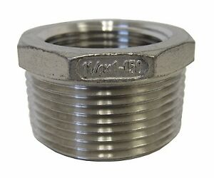 New-304-Stainless-Steel-1-1-4-MNPT-X-1-FNPT-Reducing-Bushing-Class-150