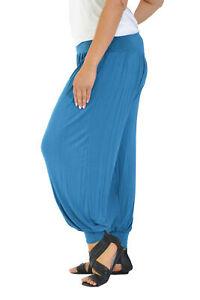 New Womens Harem Trouser Plus Size Animal Print Ali Baba Full Length Nouvelle