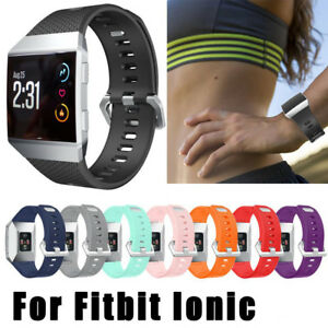 Replacement-Band-Secure-Strap-for-Fitbit-Ionic-Wristband-Metal-Buckle-Tracker