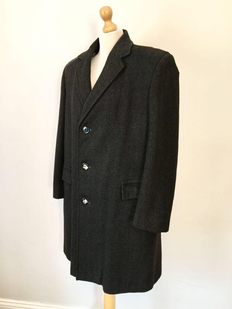 Hepworts Vintage TailoROT   Herren Pure New Wool Winter Coat , Größe L - XL