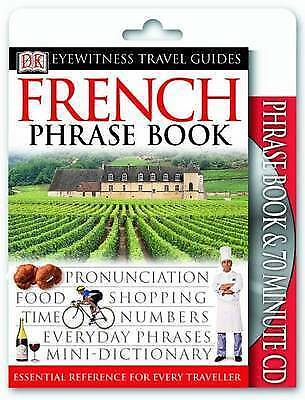 French Phrase Book and CD by DK (Paperback) New