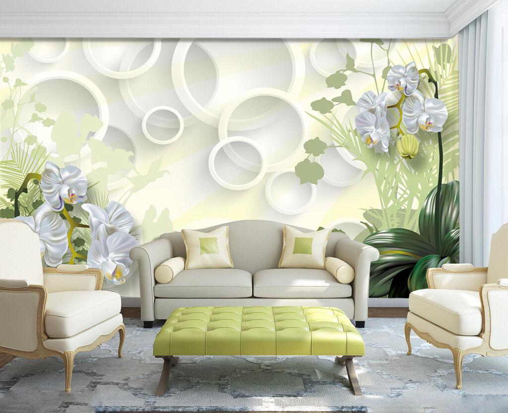 3D Weiß Circle Flower 388 Wall Paper Wall Print Decal Wall AJ WALLPAPER CA
