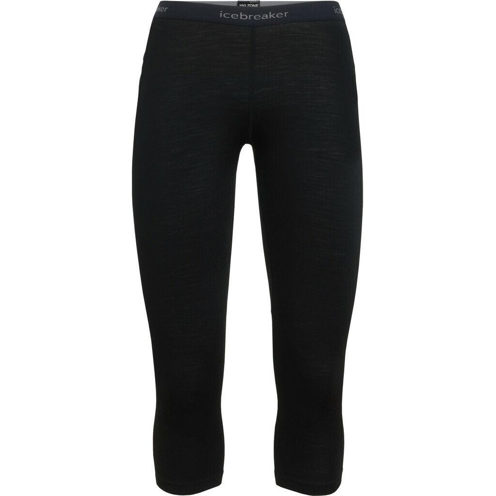 Icebreaker 150 Zone 3/4 Leggings Damen black/mineral 2019 Unterwäsche schwarz