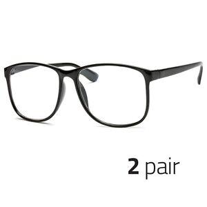1.50 3 PAIR Large Oversized Vintage Glasses READING Clear Lens Nerd Glasses