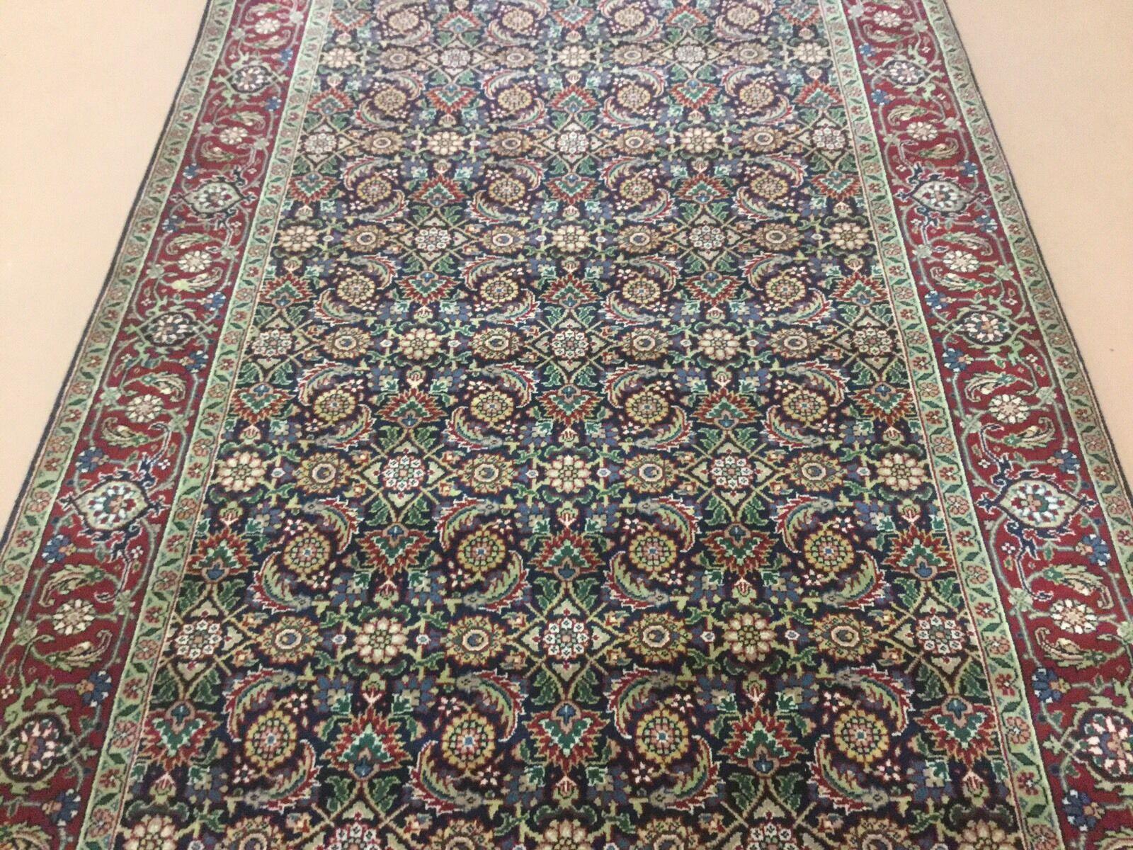 4'.0  X 8'.0  Super Herati Persian Oriental Oriental Oriental Rug Wide Runner Hand Knotted Wool edb1bc